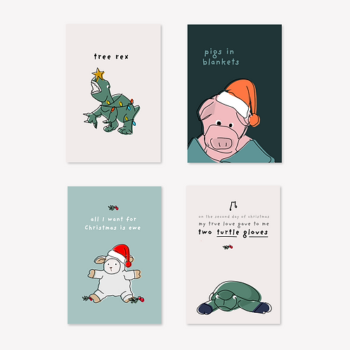 8 x  Christmas Card Pack