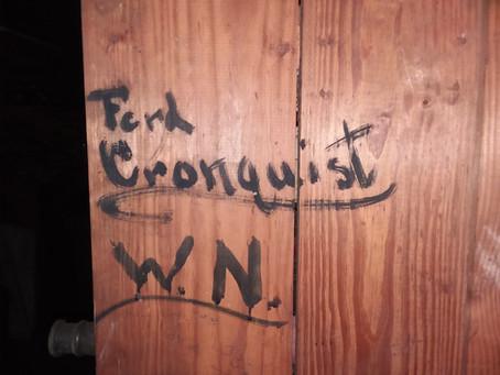 A name on a shelf