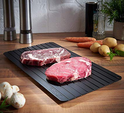 Kitchen Tip: Defrost Meat on Aluminum Trays!