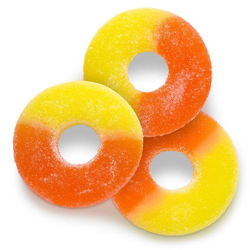 Peach Gummy Rings (Half Pound Bag)