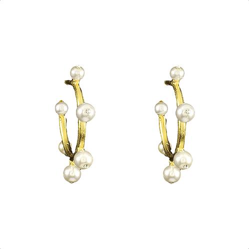 Pearl Fashion Hoop Earrings