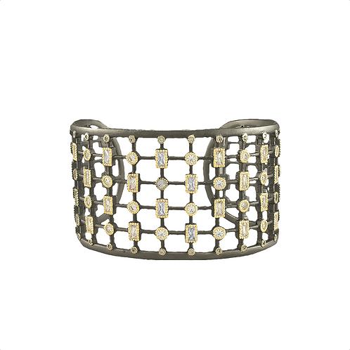Gold CZ Cuff Bracelet