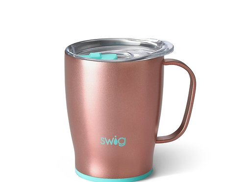 Shimmer Rose Gold 18oz Swig Travel Mug