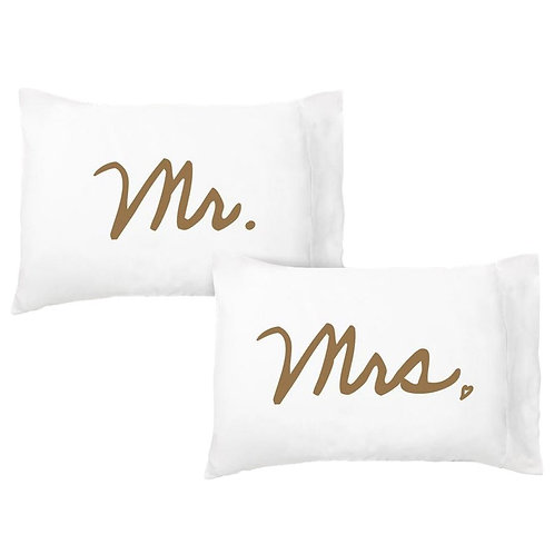 'Mr. & Mrs.' Dreamy Pillowcase - Set