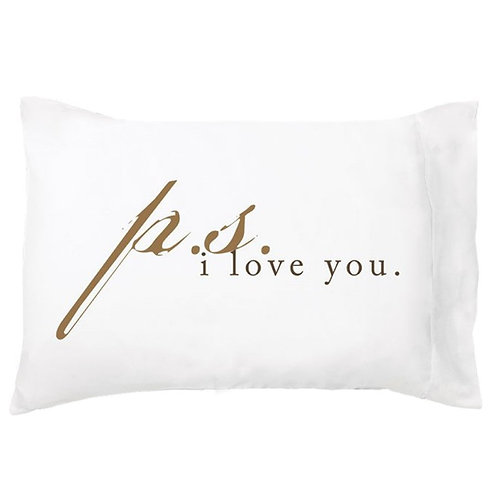 'P.S. I Love You' Dreamy Pillowcase - Single