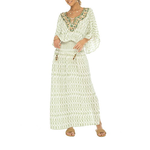 Green Antigua Butterfly Dress