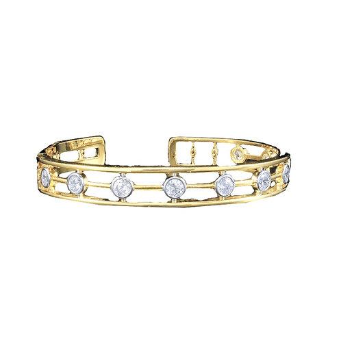 Gold Station CZ Bracelet