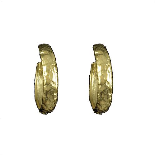 Medium Hand Hammered Hoop Earrings