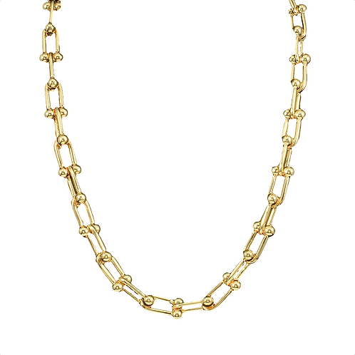 "16"" Gold Chain Link Necklace"