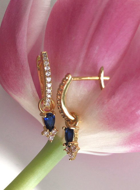 'PALOMA' Blue Hoop Earring