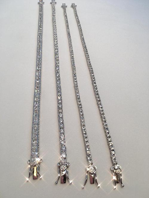 'RIVIERA' Square Tennis Bracelet