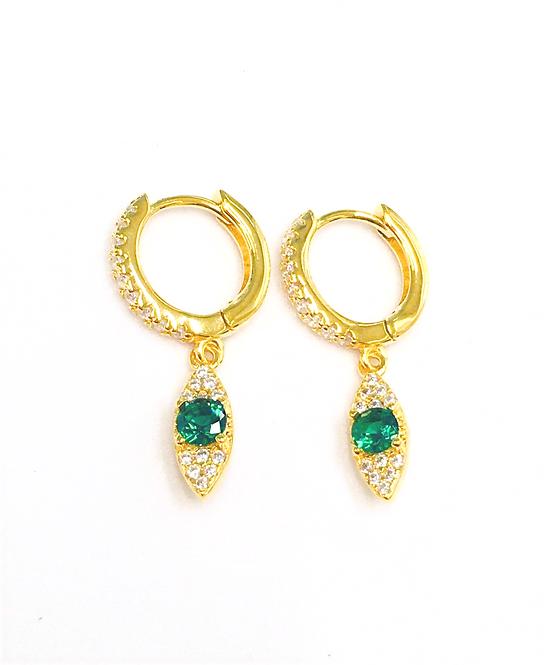 'OLIVIA' Green Earrings