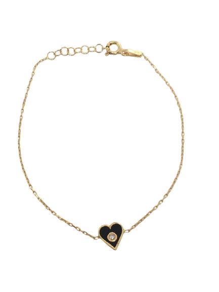 'ANABELLE' Gold Mini Heart Bracelet