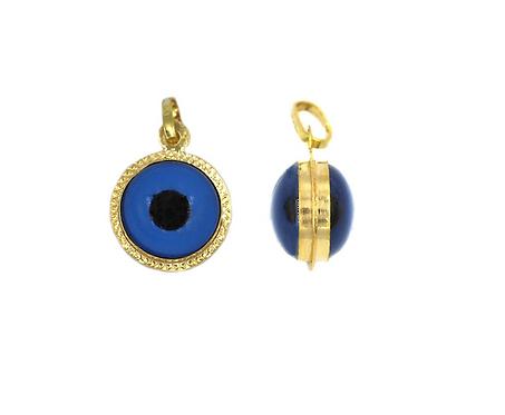 14K Gold Evil Eye Charm