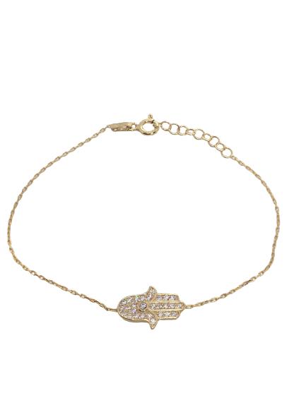 'HAMSA' Gold Hand Bracelet
