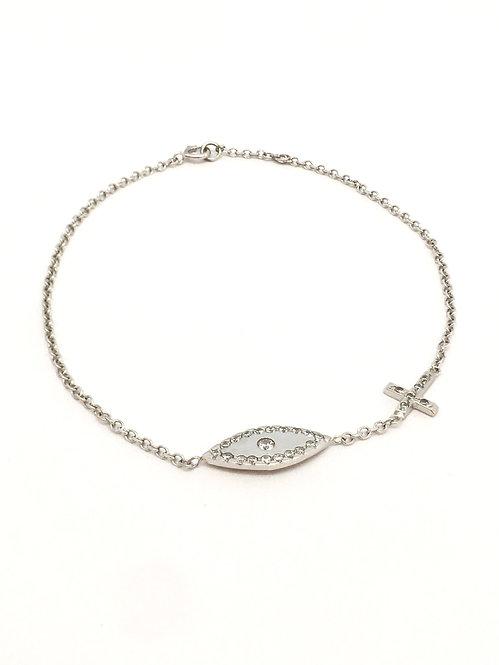 'LUCCIA' 14K White Gold Bracelet