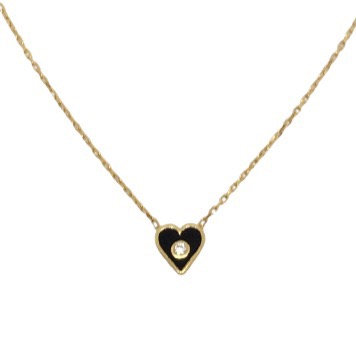 'ANABELLE' Gold Heart Necklace