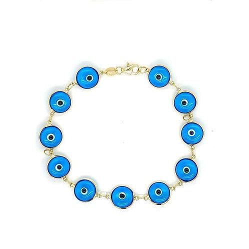 'LUISA' Gold Blue Eye Bracelet