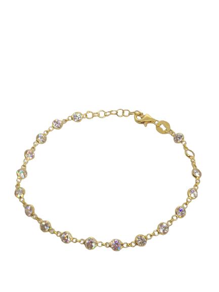 'CHARLOTTE' Gold cz Stones Bracelet