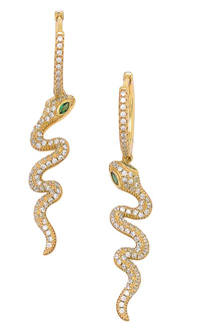 'AMBER' Snake Earrings