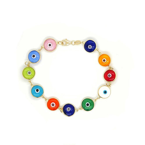 'LUISA' Gold Multicolored Bracelet