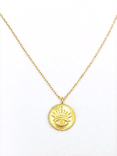 'MARTA' evil eye coin necklace