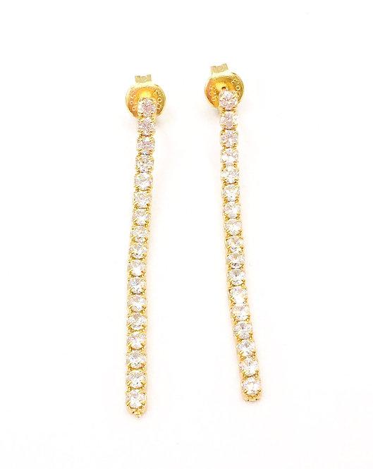 'ANGELICA'  Gold Tennis Earrings