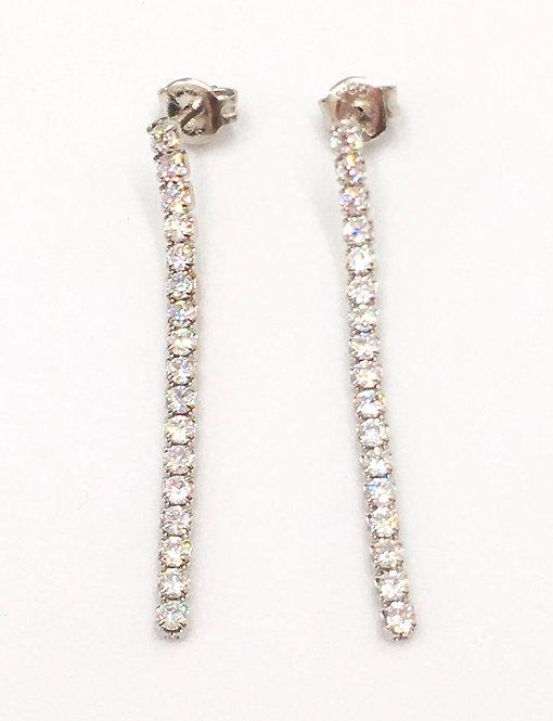 'ANGELICA' Silver Tennis Earrings