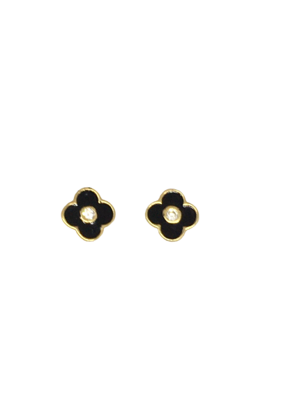 'ANABELLE' Gold Mini Clover Earrings