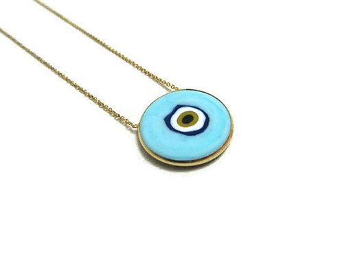 'KITA' Necklace in Baby Blue