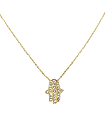 'HAMSA' Gold Hamsa Hand Necklace
