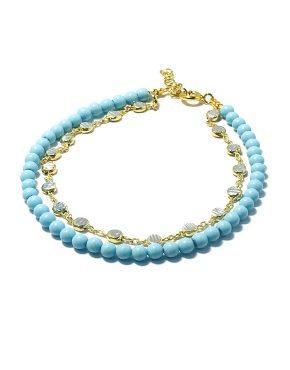 'OLGA' Turquoise Double Bracelet