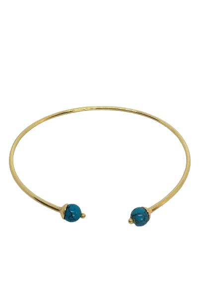 'CHER' Gold Bangle Bracelet