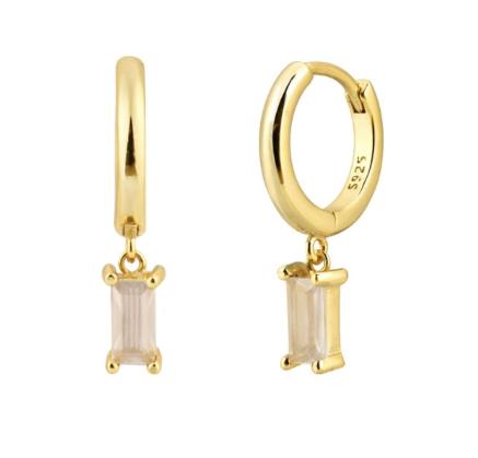 'MADALENA' Earrings Milk White