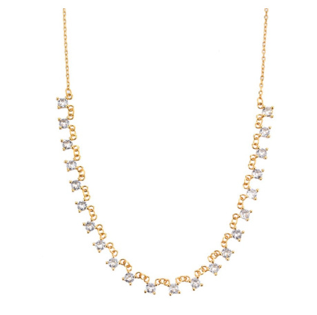 'AZORA' Necklace Clear