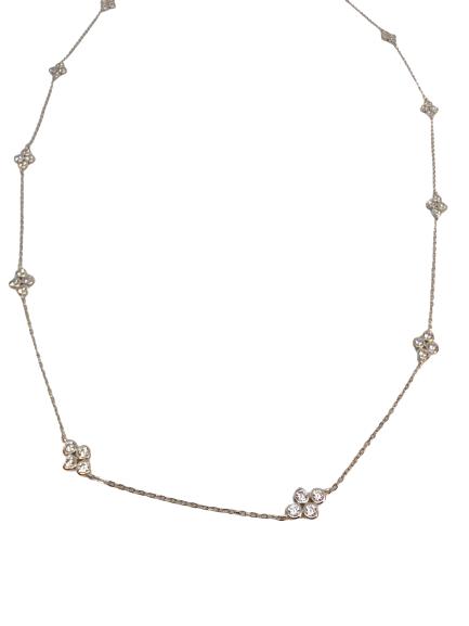 'MINA' Silver Long Necklace