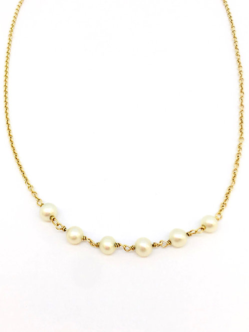 'JOIELLA' Gold Pearl Necklace 14k