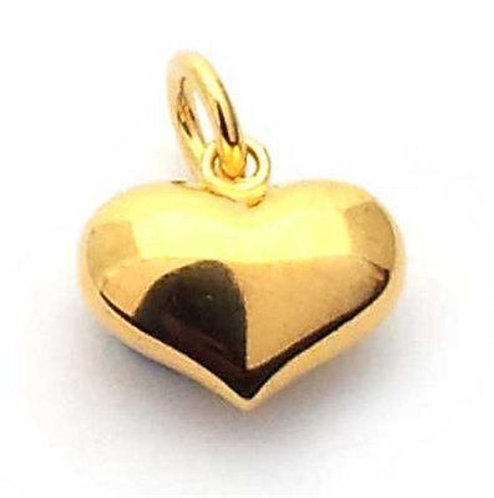 'MAIRA' Puffy Heart Necklace