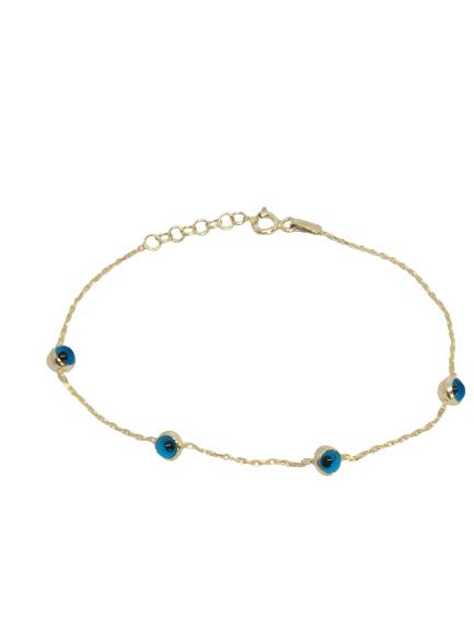 'LUCKY' Gold Evil Eye Necklace