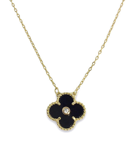 'ROMA' Black Necklace