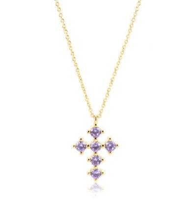 'VIOLETTA' Cross Necklace
