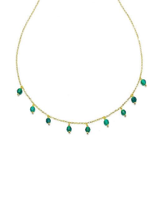 'LAURA' Emerald Necklace