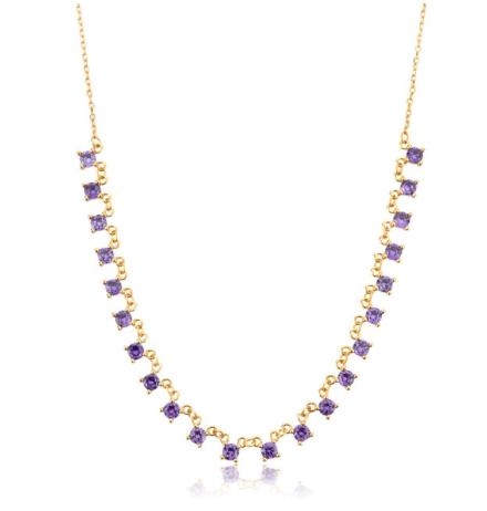 'AZORA' Necklace Purple