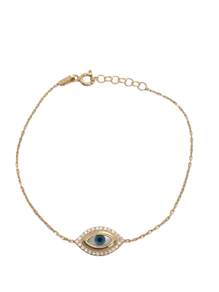 'AMARA' Gold Evil Eye Bracelet