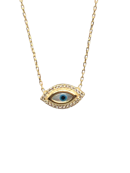 'AMARA' Gold Evil Eye Necklace