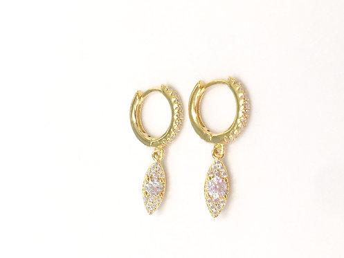 'OLIVIA' Clear White Earrings