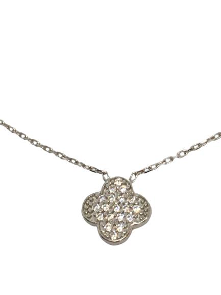 'CLOVER' Silver Necklace