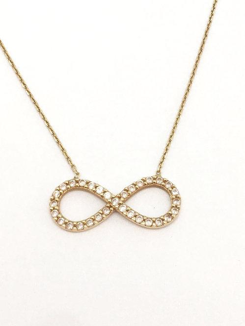 'CARINA' Infinity Necklace GOLD 14K
