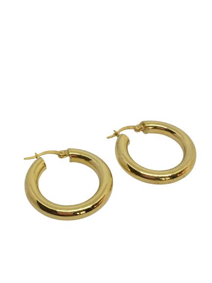 'HOOLA HOOP' Gold Earrings