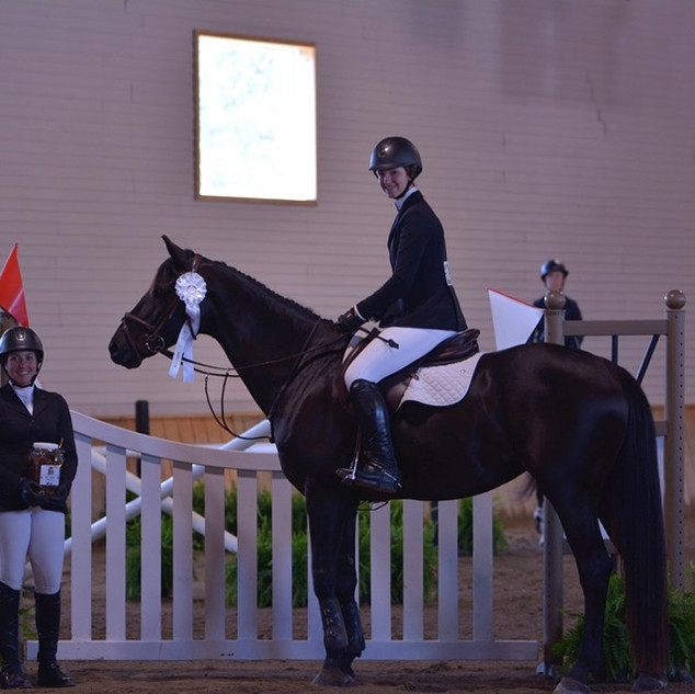 Skyler and The Countess in the Benchmark Jumper Derby